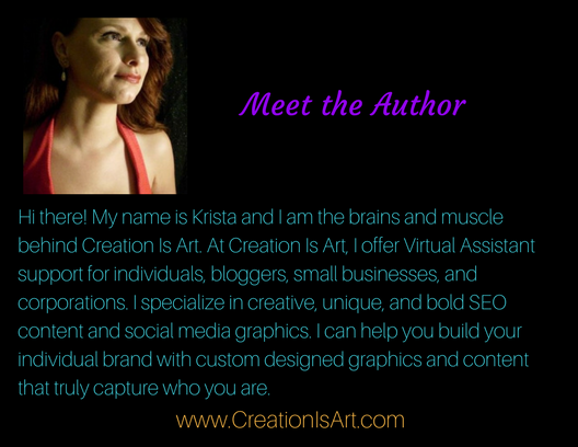 Bio-Krista Lawson-Creation Is Art